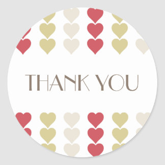 Thank You, network hearts Valentine romantic to st Classic Round Sticker
