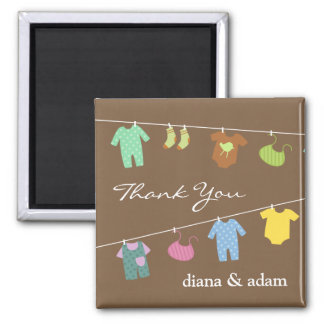 Thank You Neutral Baby Shower Magnet