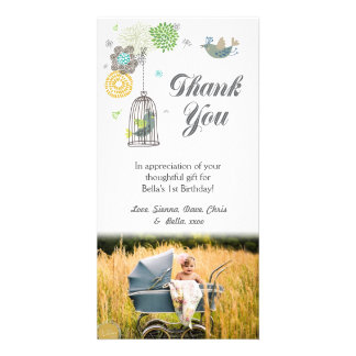 Thank You Note 1st Birthday Girls Template