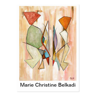 Thank You Note Artistic Colorful Abstract Couple Large Business Card