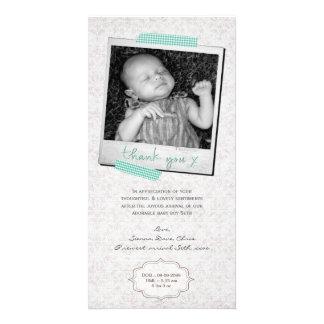 Thank You Note Baby Boy Blue Washi Tape Polaroid Photo Card