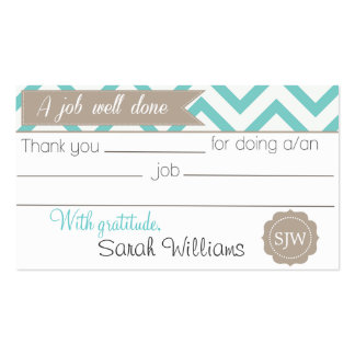 Thank you note business card