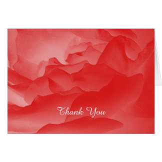 Thank You Note Card Coral Pink Rose, Custom Inside