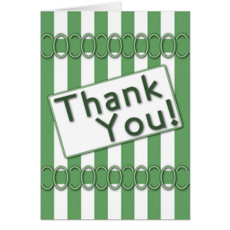 Thank You Note Card Green Scrapbook Style