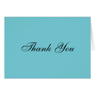 Thank You Note Card (L. Blue)