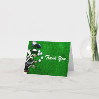 Thank You Note Card Man Golf Birthday