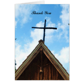 Thank You Note Card, Old Church, Blank Inside Card
