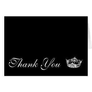 Thank You Note Card Pageant Crown