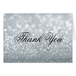 Thank You Note Card - Silver Lit Fab
