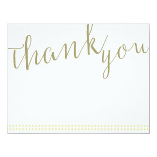 Thank You Note Card with Dotted Line Detail