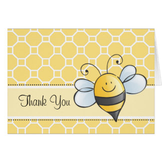 Thank You Note Card | Yellow Bumble Bee