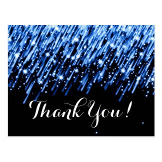 "Thank You Note Falling Stars ""Sapphire Blue"" Postcard"