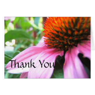 Thank You Note, Floral Purple Coneflower Stationery Note Card