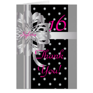 Thank You Note For A Sweet Sixteen-Customize Greeting Card