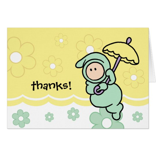thank you note for baby gift or baby shower card zazzle