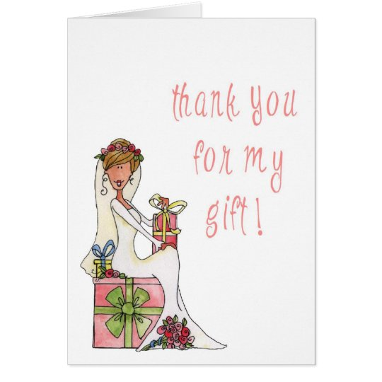 Thank You note for the Bride Card