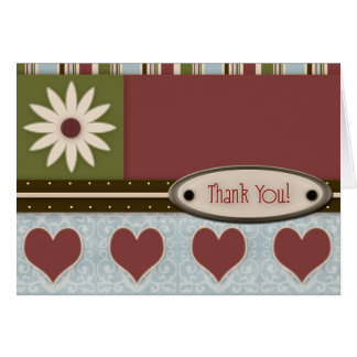 Thank You Note Greeting Card