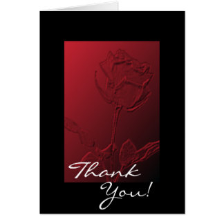 Thank You Note or Greetings Cards Red Rose