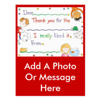 Thank You Note Postcard