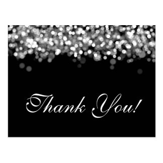 Thank You Note Silver Lights Postcard