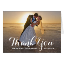Thank You Note   Simple Wedding Photo