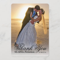 Thank You Note | Simple Wedding Photo
