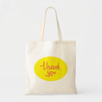 Thank you note tote bag