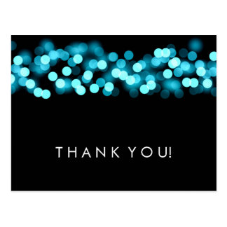 Thank You Note Turquoise Hollywood Glam Postcard