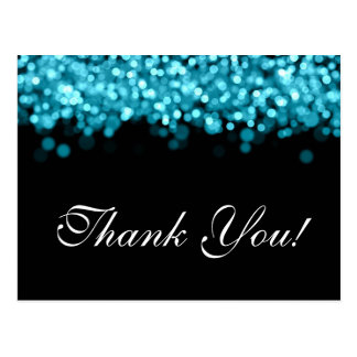 Thank You Note Turquoise Lights Postcard