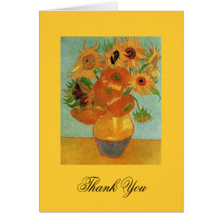 thank you note Vincent van Gogh Sunflowers Greeting Cards