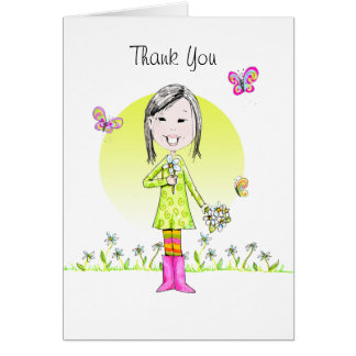 Thank You note w/Daises Card