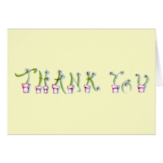 Thank You note w/Flowers - see inside Stationery Note Card