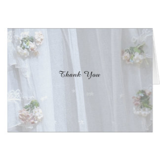Thank You Note Wedding / Anniversary, Vintage Lace Card