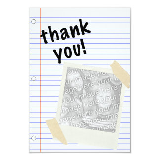 thank you notebook paper card
