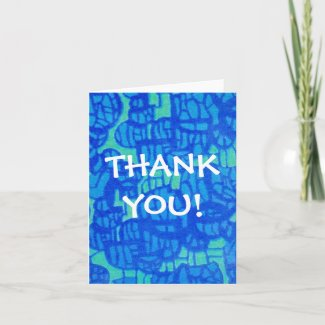 Thank You Notecard - Abstract Design card