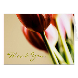 Thank You Notecard Card, Tulips, Floral
