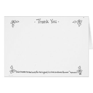 Thank You Notecard in black and white Greeting Card