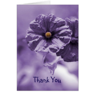 Thank You Notecard with Purple Flower