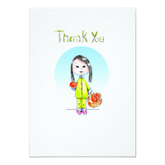 Thank You Notes - 10 per package 5x7 Paper Invitation Card