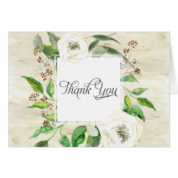 Professional Business Thank You Notes Bridal Wedding Boho Leaf Wooden
