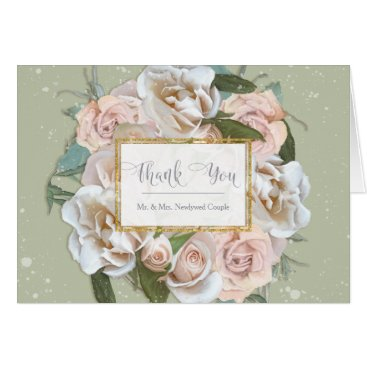 Professional Business Thank You Notes Bride Bridal Shower Elegant Roses