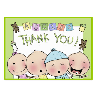 Thank You Notes from the Babysitter Large Business Cards (Pack Of 100)