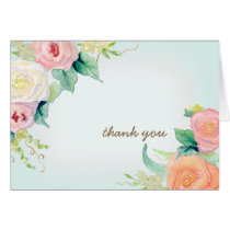 Thank You Notes Simple Modern Watercolor Floral