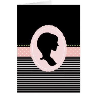 Thank You Notes with a Girly Silhouette