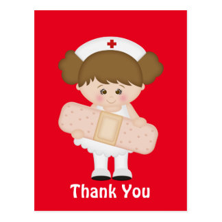 Thank you Nurse cartoon postcard