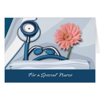 Thank You Nurse Customizable Greeting Card