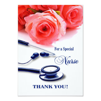 "Thank You Nurse. Customizable Greeting Cards 5"" X 7"" Invitation Card"