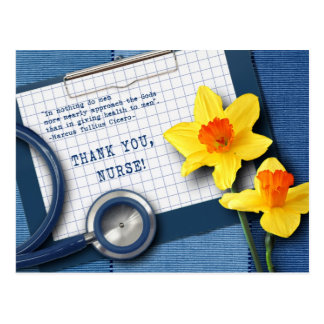 Thank You Nurse. Customizable Postcards