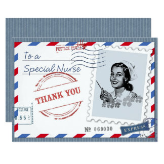 Thank You Nurse. Vintage Design Flat Cards