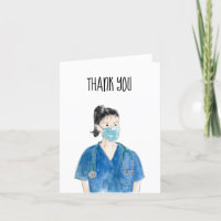 Thank you Nurse Watercolor Front Line Health Care